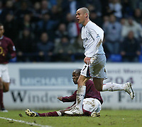 Photo: Aidan Ellis.<br /> Bolton Wanderers v Arsenal. The Barclays Premiership.<br /> 03/12/2005.<br /> Bolton's Stelios scores the second goal