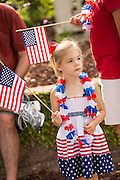 A young girl dressed in patriotic costume during the annual I'On Community Independence Day Parade on July 4, 2012 in Mt Pleasant, South Carolina.