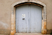 Domaine Le Conte des Floris, Caux. Pezenas region. Languedoc. A door. France. Europe.
