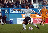 Photo: Kevin Poolman.<br />Luton Town v Wolverhampton Wanderers. Coca Cola Championship. 03/03/2007. Lewis Emanuel hits home Luton's first goal.