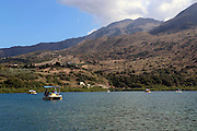Pedal boat on Lake Kournas, Crete Island