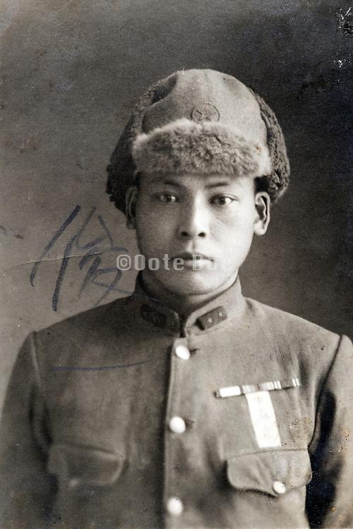 youg soldier portrait Japan ca 1930s
