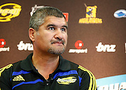 Wellington Hurricanes coach Colin Cooper. Super 14 rugby union. 2010 Rebel Sport Super 14 New Zealand squads naming press conference. Auckland, New Zealand. Wednesday 11 November 2009. © Copyright Photo: www.photosport.nz