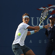 Rafael Nadal, Spain, in action against Richard Gasquet, France, during the Men's Singles Semi Final at the US Open. Flushing. New York, USA. 7th September 2013. Photo Tim Clayton