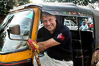 BHUBANESWAR - ex international Floris Jan Bovelander , initiatefnemer van One Million Hockeylegs,  in India bij  de Hockey World League Finals COPYRIGHTKOEN SUYK