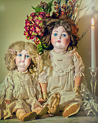 Beautiful dolls from the mid-1800's.  Did this for a project. Vintage dolls.