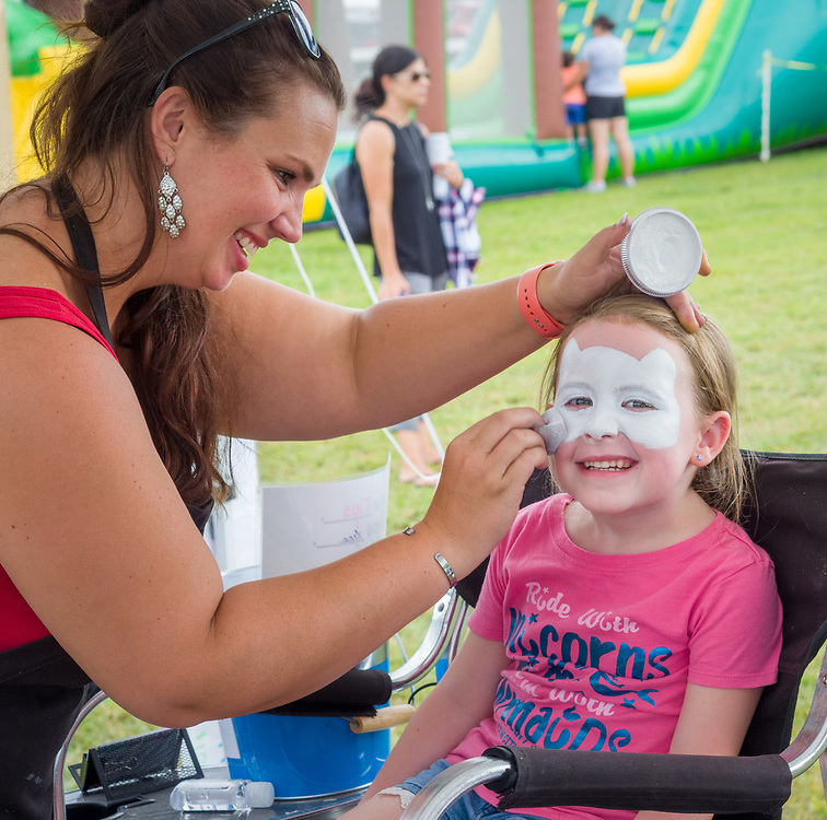 Face painting at the Ludwig's Corner Horse Show.