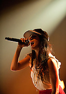 Spanish Hip Hop artist Mala Rodriguez makes a rare UK performance, at Village Underground in Shoreditch, part of the La Linea Festival, London, UK (18 April 2013). Cadiz-born Rodriguez won a Latin Grammy for best song for her album Dirty Bailarina. © Rudolf Abraham