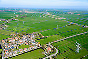 Nederland, Noord-Holland, Amsterdam-Noord, 20-04-2015; landelijk Noord, Zunderdorp gezien naar Broek in Waterland.<br /> Small village north of Amsterdam.<br /> luchtfoto (toeslag op standard tarieven);<br /> aerial photo (additional fee required);<br /> copyright foto/photo Siebe Swart