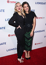 LAS VEGAS, NV, USA - APRIL 26: CinemaCon 2018 - Lionsgate Presentation held at The Colosseum at Caesars Palace during CinemaCon, the official convention of the National Association of Theatre Owners on April 26, 2018 in Las Vegas, Nevada, United States. 26 Apr 2018 Pictured: Kate McKinnon, Mila Kunis. Photo credit: Xavier Collin/Image Press Agency / MEGA TheMegaAgency.com +1 888 505 6342