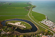 Nederland, Noord-Holland, Waterland, 28-04-2010; Fort bij Edam, het meest noordoostelijk gelegen onderdeel van de Stelling van Amsterdam..Fort Edam, the most north eastern part of the Defence Line of Amsterdam.luchtfoto (toeslag), aerial photo (additional fee required).foto/photo Siebe Swart