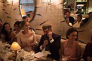 EDITE LIGERE; ROBIN BIRLEY; ?, Robin Birley and Lady Annabel Goldsmith Summer Party. Hertford St. London. 5 July 2017