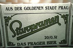 CZECH REPUBLIC BOHEMIA PRAGUE JUL97 - A carton of Staropramen bottled beer leaves the factory conveyor belt. . . jre/Photo by Jiri Rezac. . © Jiri Rezac 1997. . Tel:   +44 (0) 7050 110 417. Email: jiri@jirirezac.com. Web:   www.jirirezac.com