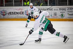 28# Ales Kranjc of HK SZ Olimpija Ljubljana during ice hockey match between HK SIJ Acroni Jesenice and HK SZ Olimpija in Round #12 of Alps Hockey League 2018/19 , on October 27, 2018 in Podmezakla hall , Jesenice, Slovenia. Photo by Urban Meglic / Sportida