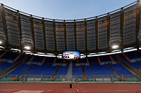 The empty stands. The match is played without spectators due to racist chants of Lazio fans during a match against Sparta Praga in 2016 . <br /> La gara si gioca a porte chiuse a causa di cori razzisti dei tifosi della lazio durante l'incontro contro lo Sparta Praga del 2016<br /> Roma 28-09-2017 Stadio Olimpico Football Europa League 2017/2018 Group K Lazio - Zulte Waregem Foto Giampiero Sposito/Insidefoto