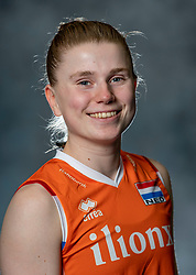 14-05-2019 NED: Photoshoot national volleyball team Women, Arnhem<br /> Florien Reesink of Netherlands