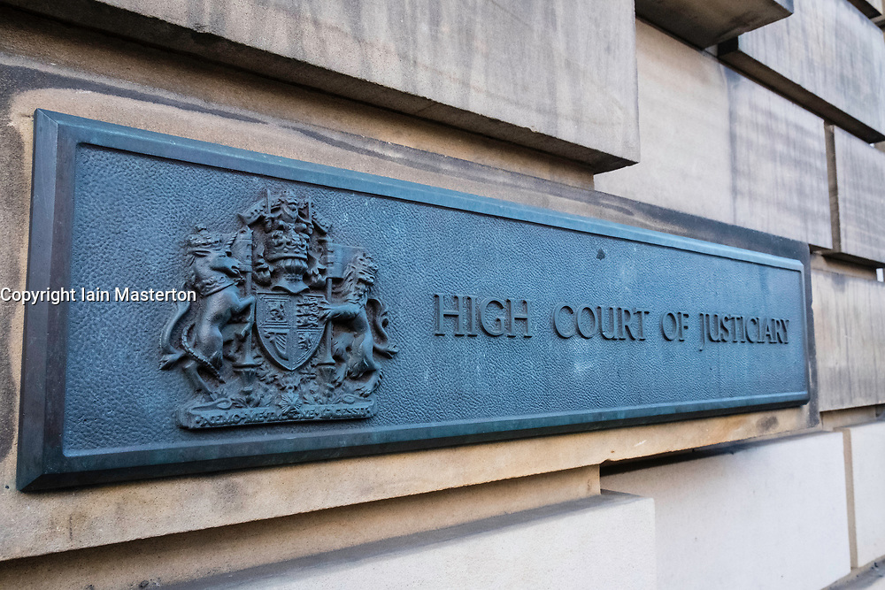 Exterior of High Court of Justiciary on Royal Mile in Old Town of Edinburgh, Scotland, United Kingdom