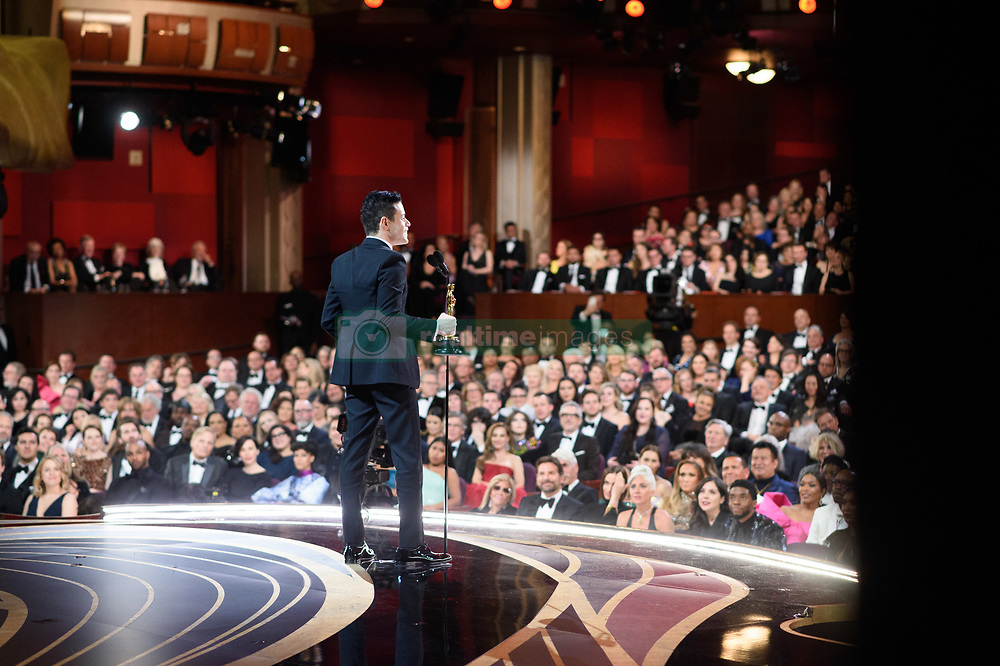 Rami Malek accepts the Oscar® for performance by an actor in a leading role during the live ABC Telecast of the 91st Oscars® at the Dolby® Theatre in Hollywood, CA on Sunday, February 24, 2019.