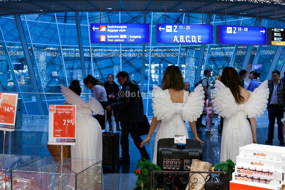 Frankfurt airport during the Christmas season
