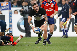New Zealand's TJ Perenara during autumn rugby test match France v New Zealand at the Stade de France in St-Denis, France, on November 26, 2016. New Zealand won 24-19. Photo by Henri Szwarc/ABACAPRESS.COM