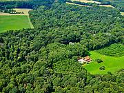 Nederland, Overijssel, Gemeente Dinkelland, 21–06-2020; natuurgebied Roderveld, bossen met loof- en naaldbomen en coulissenlandschap tussen  Denekamp en Oldenzaal.<br /> Nature reserve Roderveld, forests with deciduous and coniferous trees and a scenic landscape between Denekamp and Oldenzaal.<br /> <br /> luchtfoto (toeslag op standaard tarieven);<br /> aerial photo (additional fee required)<br /> copyright © 2020 foto/photo Siebe Swart