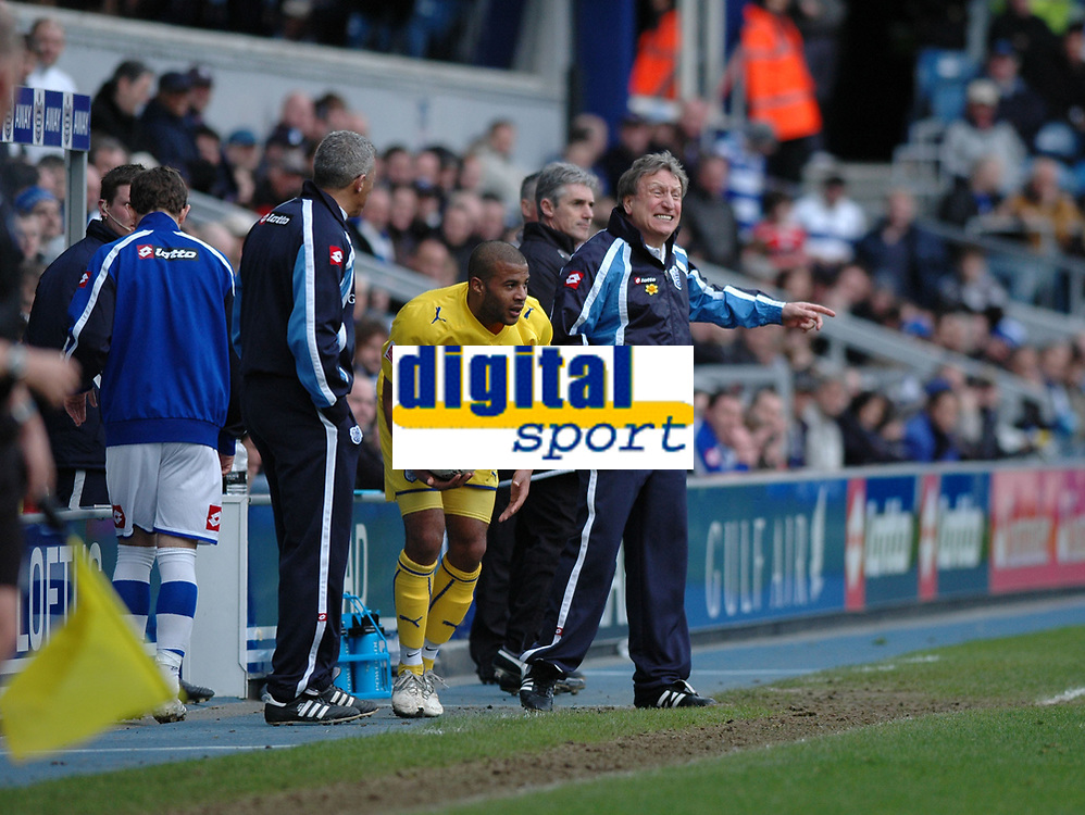 Photo: Tony Oudot/Richard Lane Photography. QPR v Sheffield Wednesday. Coca-Cola Football League One. 03/04/2010. <br /> QPR manager Neil Warnock gets a point across
