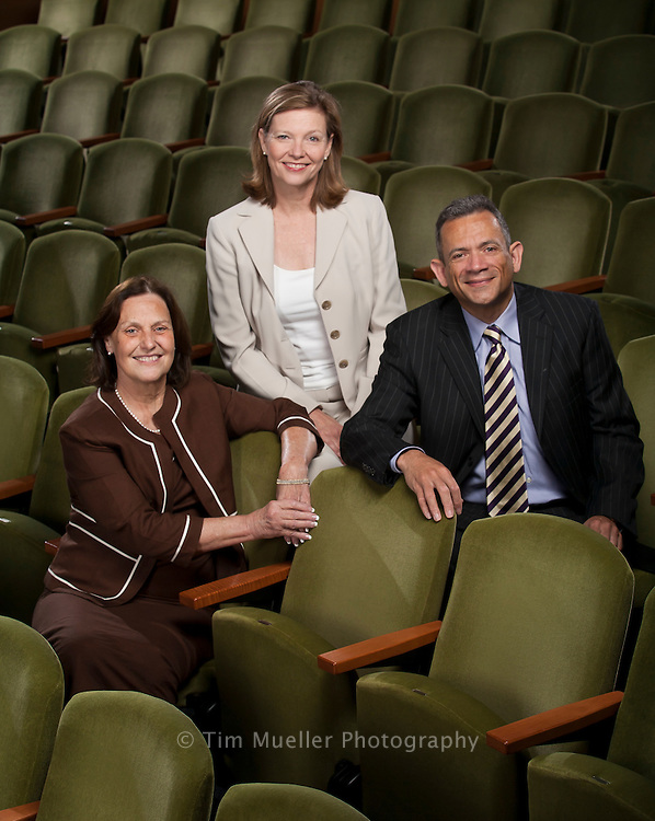 The 2009 winners of the John W. Barton Sr.Excellence in Nonprofit.Management Awards are, from left, Ginger Hunt, Liz Betz and Derrick Gordon.