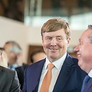 NLD/Amsterdam/20190314  - Koning bij viering 100 jaar Luchtvaart  in Nederland, Koning Willem Alexander en Menno Snel