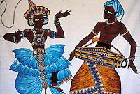 Sri Lanka - Batik - Artisanat Sri Lankais - danseurs traditionnel