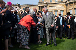 The Prince of Wales during a garden party at Buckingham Palace in London.