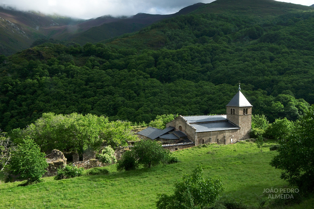View of the old monastery at Montes de Valdueza