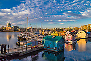 The Floating Homes of Fisherman's Wharf in Victoria, BC<br /> Fisherman's Wharf is a working wharf lined with several restaurants and a single boutique shop. The most notable feature of Fisherman's Wharf is that people actually live here - in floating homes!