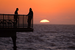 ©Licenced to London News Pictures<br /> <br /> 14/06/2018 . Aberystwyth Wales UK<br /> <br /> UK Weather: After Storm Hector has blown out, the day ends with a glorious summer evening and sunset in Aberystwyth on the west Wales coast<br /> <br /> photo credit Keith Morris /LNP