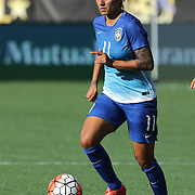 ORLANDO, FL - OCTOBER 25: Cristiane #11 of Brazil dribbles the ball during a women's international friendly soccer match between Brazil and the United States at the Orlando Citrus Bowl on October 25, 2015 in Orlando, Florida. (Photo by Alex Menendez/Getty Images) *** Local Caption *** Cristiane