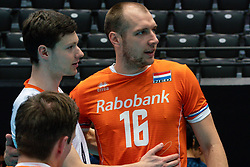11-08-2019 NED: FIVB Tokyo Volleyball Qualification 2019 / Netherlands - USA, Rotterdam<br /> Final match pool B in hall Ahoy between Netherlands vs. United States (1-3) and Olympic ticket  for USA / Just Dronkers #6 of Netherlands, Wouter Ter Maat #16 of Netherlands
