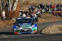 MOTORSPORT - WRC 2012 - RALLYE MONTE CARLO - VALENCE (FRA) & MONACO (MON) - 17 TO 23/01/2012 - PHOTO : ALEXANDRE GUILLAUMOT / DPPI - <br /> FORD WRT / SOLBERG Petter - PATTERSON Chris / FORD FIESTA - WRC / Action