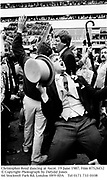 Christopher Reed dancing at Ascot. 19 June 1987. Film 87526f32<br />