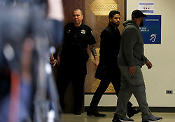 Actor Jussie Smollett exits courtroom 101 into the hallway at the Leighton Criminal Court Building following an emergency hearing over his disorderly conduct charges on Tuesday, March 26, 2019. Photo by Jose M. Osorio/Chicago Tribune/TNS/ABACAPRESS.COM