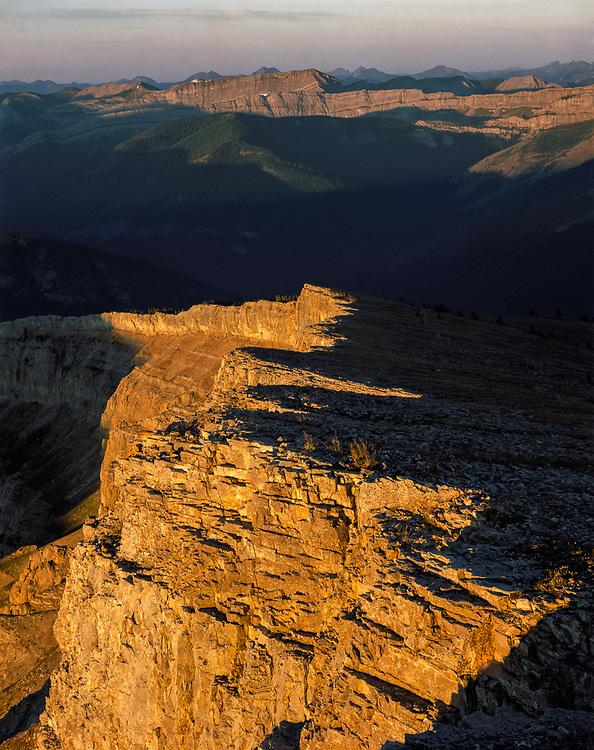 Prairie Reef, morning light, Bob Marshall Wilderness, Montana, USA
