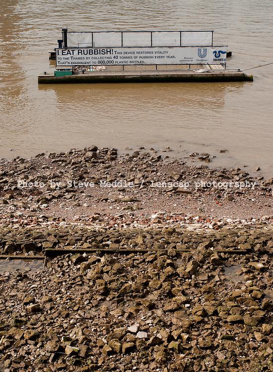 Rubbish Catcher in the River Thames, London, Britain - 2010