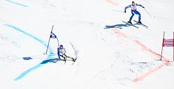 20.03.2011, Pista Silvano Beltrametti, Lenzerheide, SUI, FIS Ski Worldcup, Finale, Lenzerheide, NATIONEN TEAM EVENT, im Bild Manfred Moelgg (ITA) vs Andre Myhrer (SWE) // during Nations Team Event, at Pista Silvano Beltrametti, in Lenzerheide, Switzerland, 20/03/2011, EXPA Pictures © 2011, PhotoCredit: EXPA/ J. Feichter