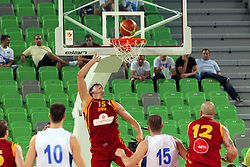 at friendly match between Serbia and Macedonia for Adecco Cup 2011 as part of exhibition games before European Championship Lithuania on August 7, 2011, in SRC Stozice, Ljubljana, Slovenia. (Photo by Urban Urbanc / Sportida)