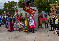 panto parade outside of Downing Street, Whitehall, London, England,Wednesday 30 September, 2020 to highlight the plight facing the theatre industry and the damage that has been done to the industry as many are freelancers/self employed who have been excluded from government support photo by Mark Anton Smith