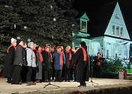 Pine Bush, NY - The Sweet Adelines Song of the Valley International sing during the Pine Bush Festival of Lights on Main Street on the evening of Dec. 1, 2007.