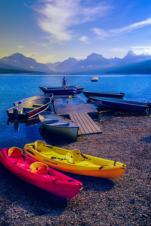 Aquatic recreation at Lake McDonald, Glacier National Park, Montana
