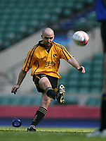 Photo: Jonathan Butler.<br /> <br /> Northwich v Bradford Salem. EDF Energy Senior Vase Final. 15/04/2007. Northwichs Gary Bell converts a penalty try