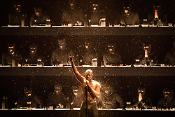 EDITORIAL USE ONLY.<br /><br />Stormzy performs on stage at the Brit Awards at the O2 Arena, London.