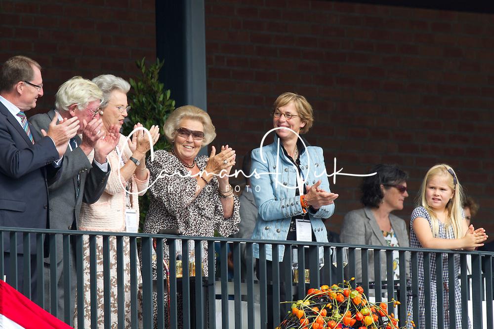 HRH Queen Beatrix of Holland, Princess Benedict of Denmark, Tinneke Bartels, Princes Amalia<br /> European Championships Dressage - Rotterdam 2011<br /> © Dirk Caremans