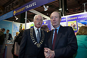 NO FEE PICTURES<br /> 25/1/19 Minister Shane Ross pictured at the Holiday World Show 2019 at the RDS Simmonscourt in Dublin. Picture; Arthur Carron