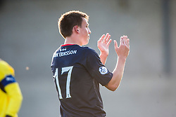 Falkirk's scorer Kris Faulds at the end.<br /> Raith Rovers 1 v 1 Falkirk, Scottish Championship 28/9/2013.<br /> ©Michael Schofield.
